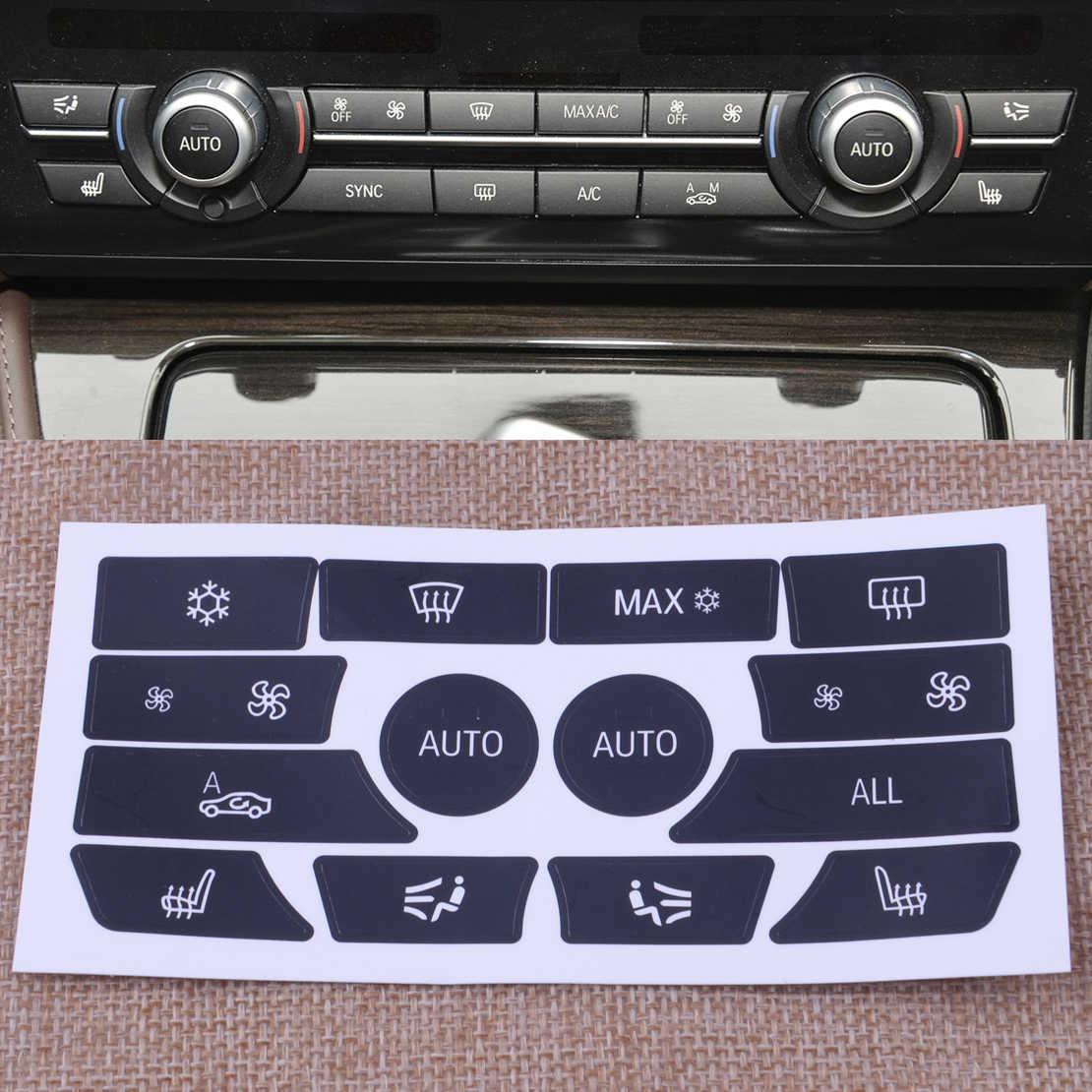 Наклейки на кнопки панели авто