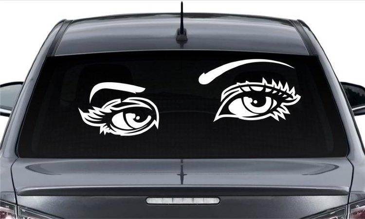 Наклейки на заднее стекло авто для девушек