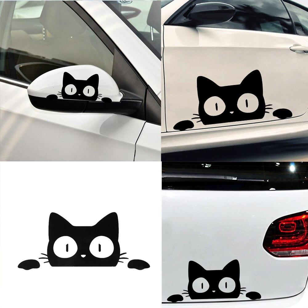 Разнообразные наклейки «Кот» на авто