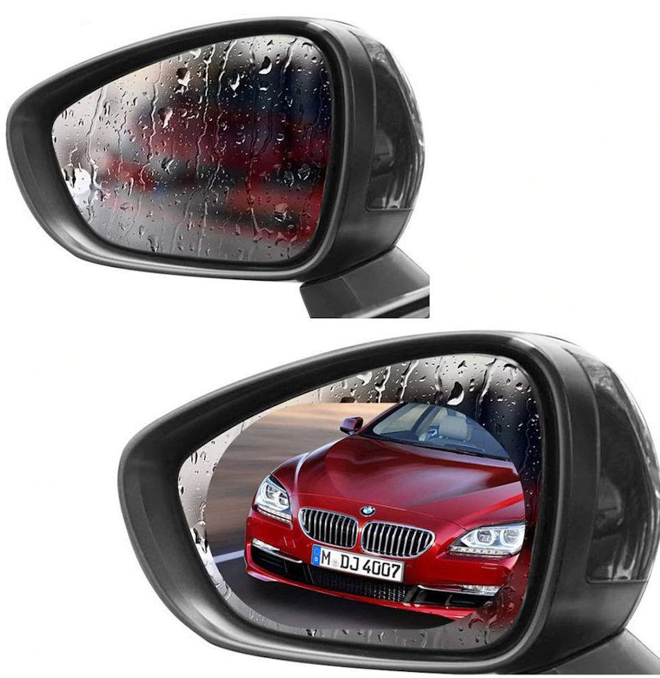 Универсальная противотуманная непромокаемая пленка «антидождь» для боковых зеркал автомобиля (17х20см 2шт)