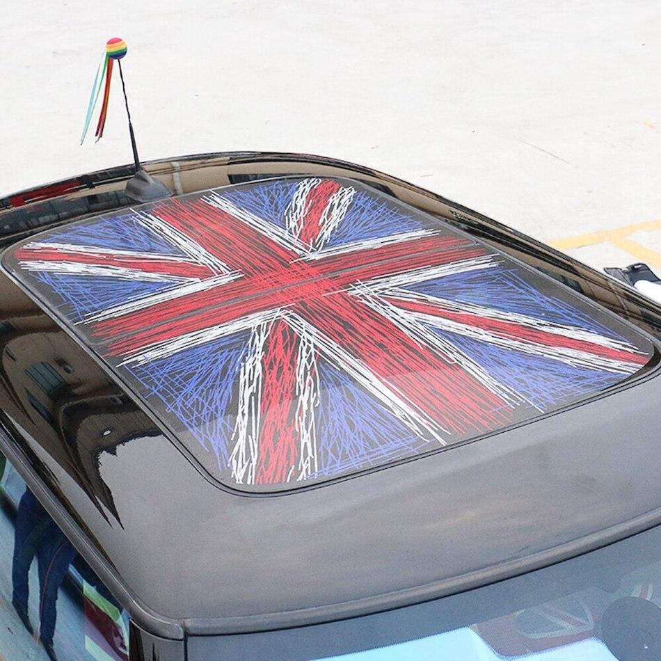 Наклейки на крышу автомобиля Red Union Jack Sunroof с британским флагом