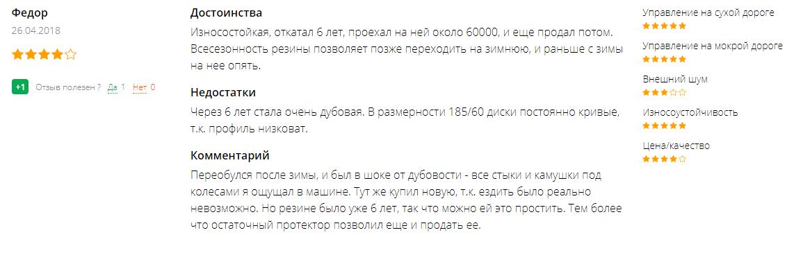 Отзывы на резину «Кама» Евро-224