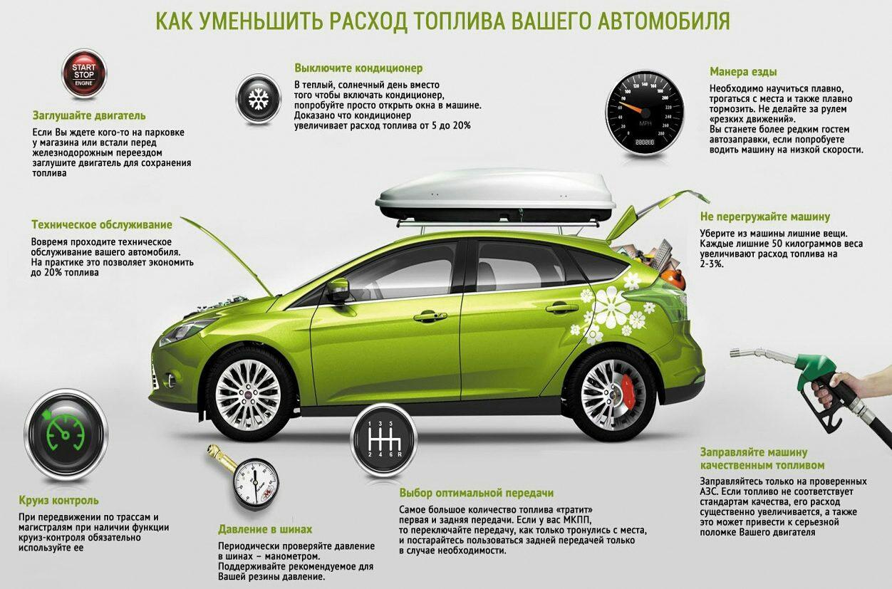 Как снизить расход топлива автомобиля