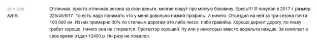 Отзыв о зимней резине «Тигар Винтер 1»