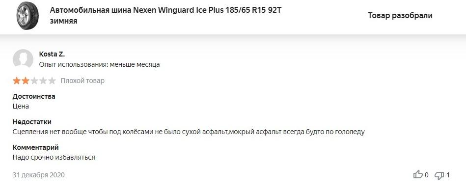 Обзор Nexen Winguard Ice Plus в отзывах