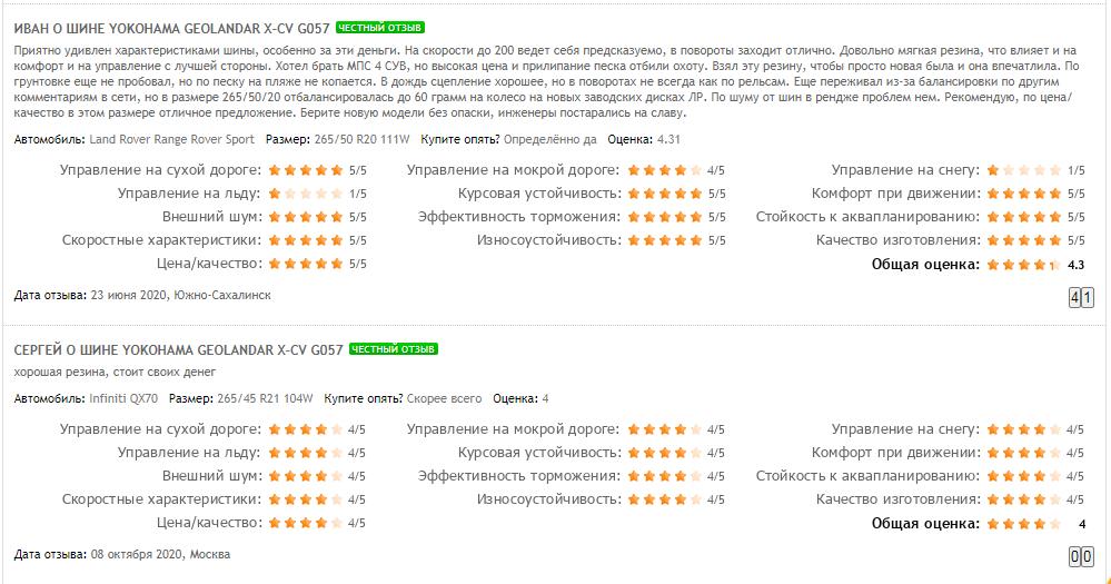 Мнение покупателей о резине «Йокогама Геолендер»