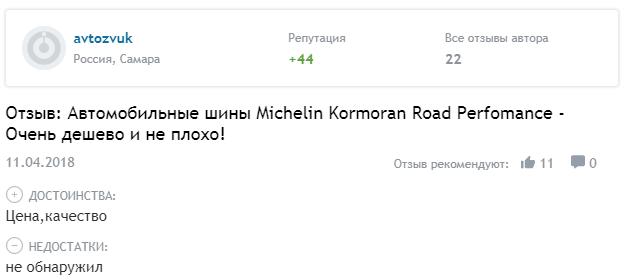 Оценки шины Kormoran Road Performance летняя
