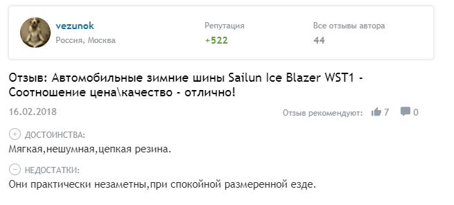 Комментарий о шинах Sailun Ice Blazer Alpine