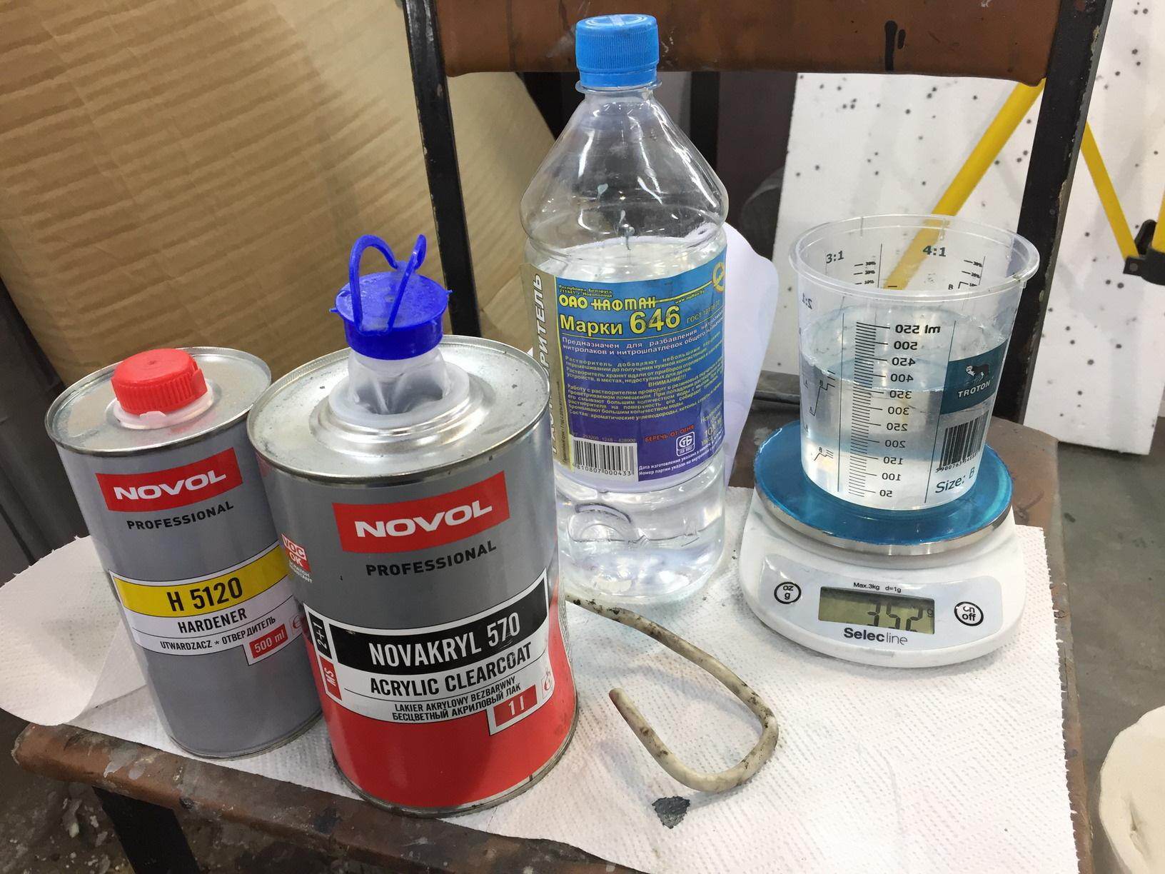 Как разбавить лак при покраске авто