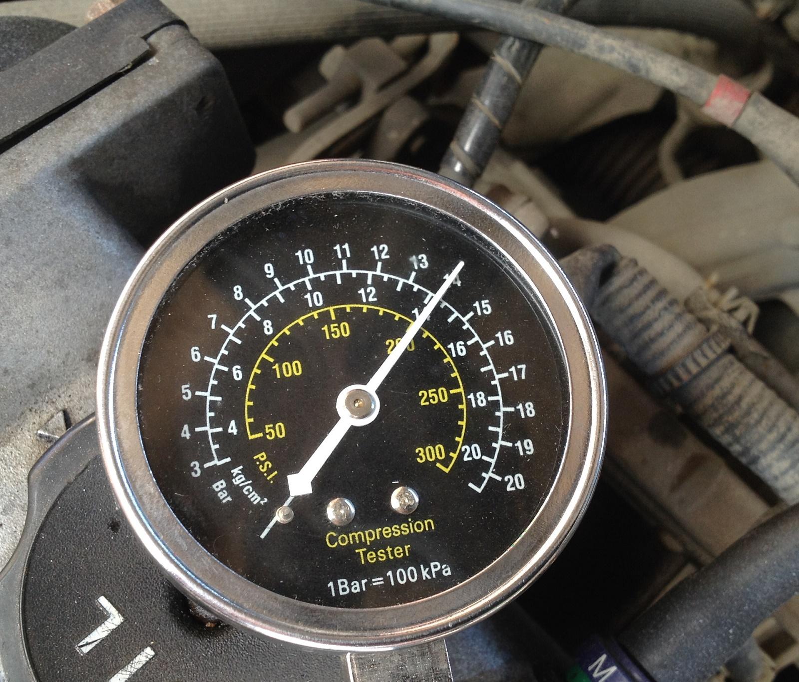 Замер компрессии двигателя