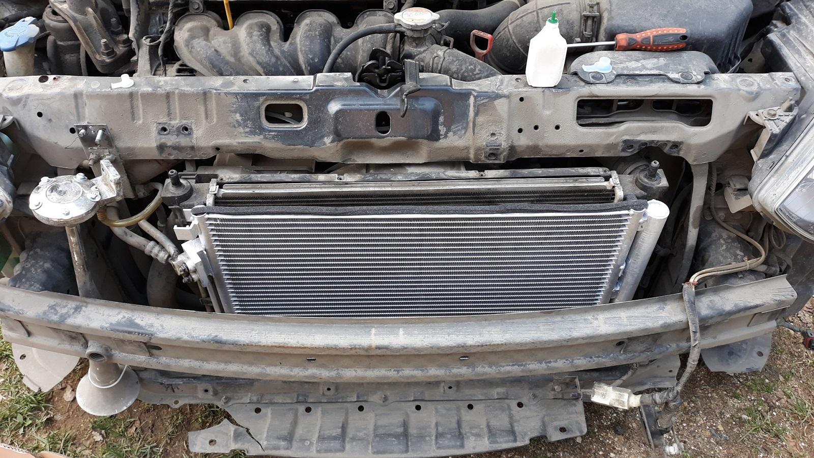 Демонтаж охладителя воздуха автомобильного салона