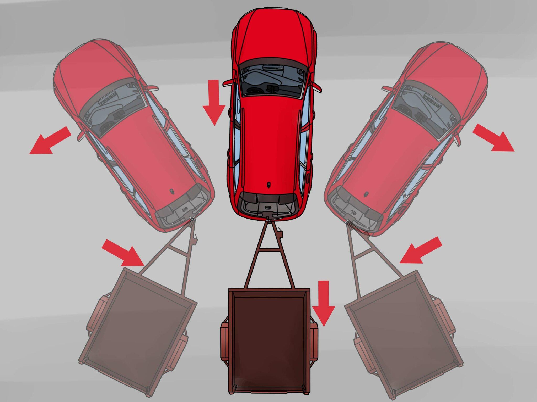 Как научиться ездить с прицепом задним ходом на легковом автомобиле