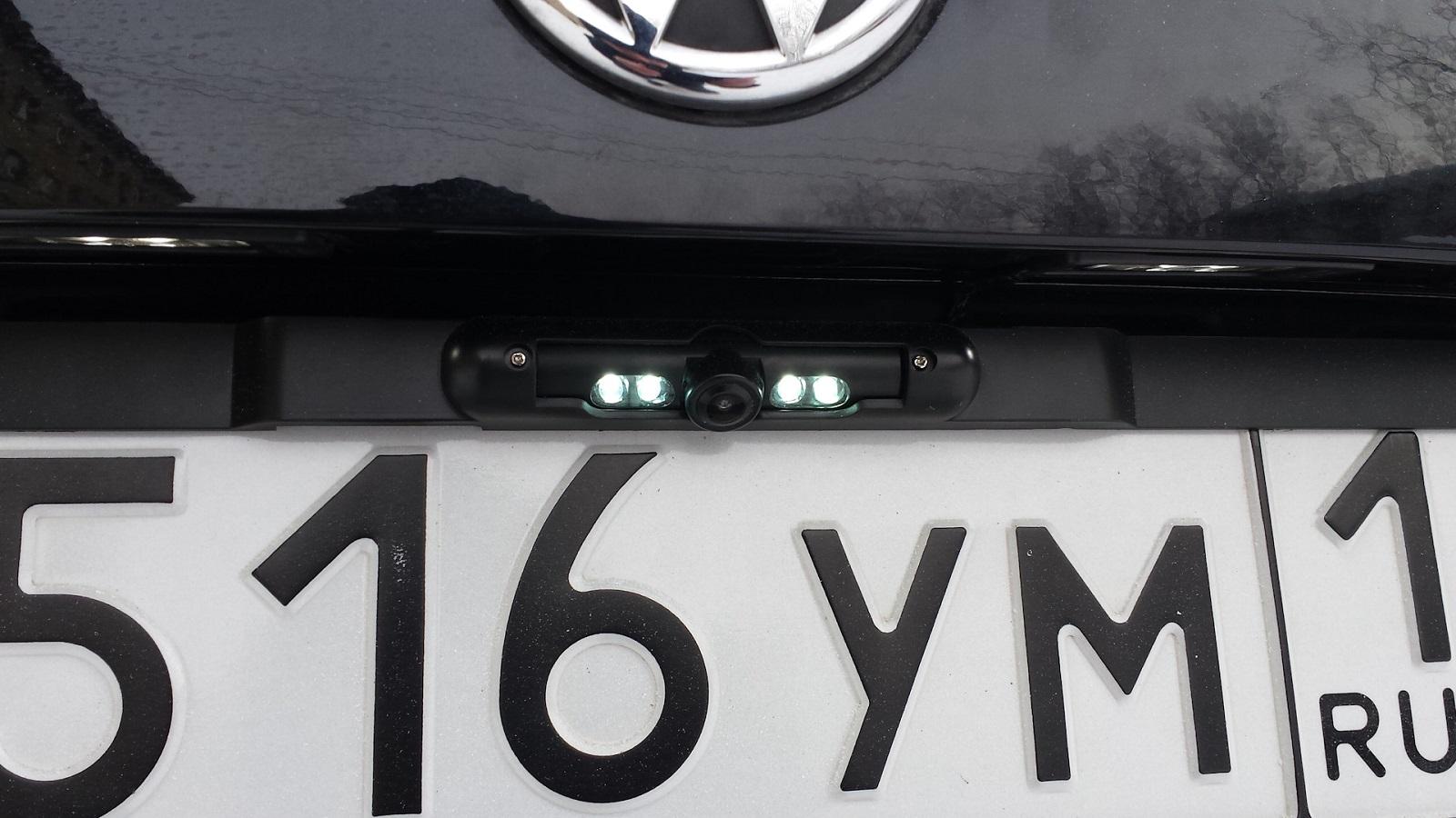 Камера CarPrime в рамке номерного знака