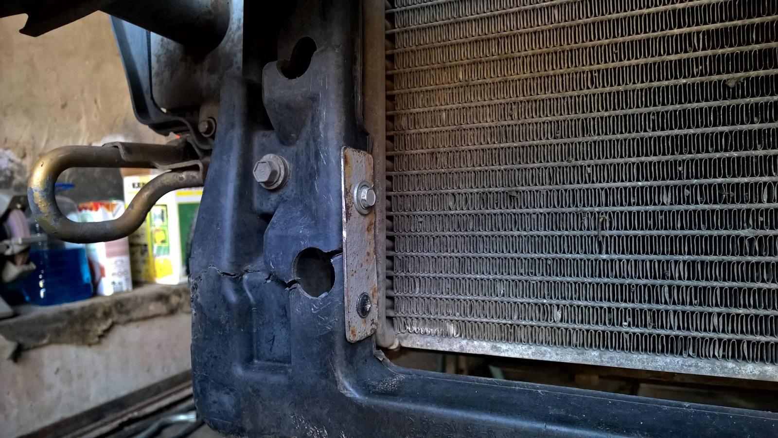 Коррозия основного радиатора автомобиля