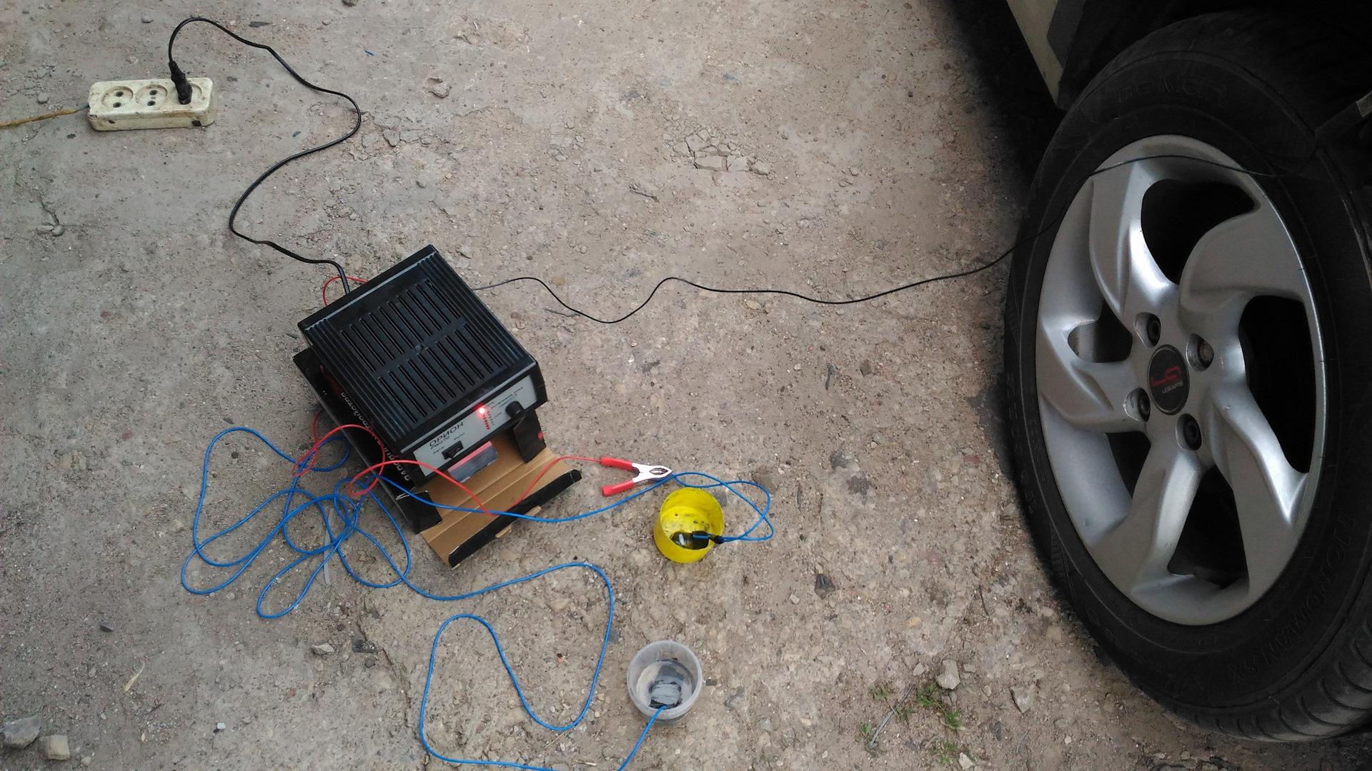 Оцинковка кузова батарейкой