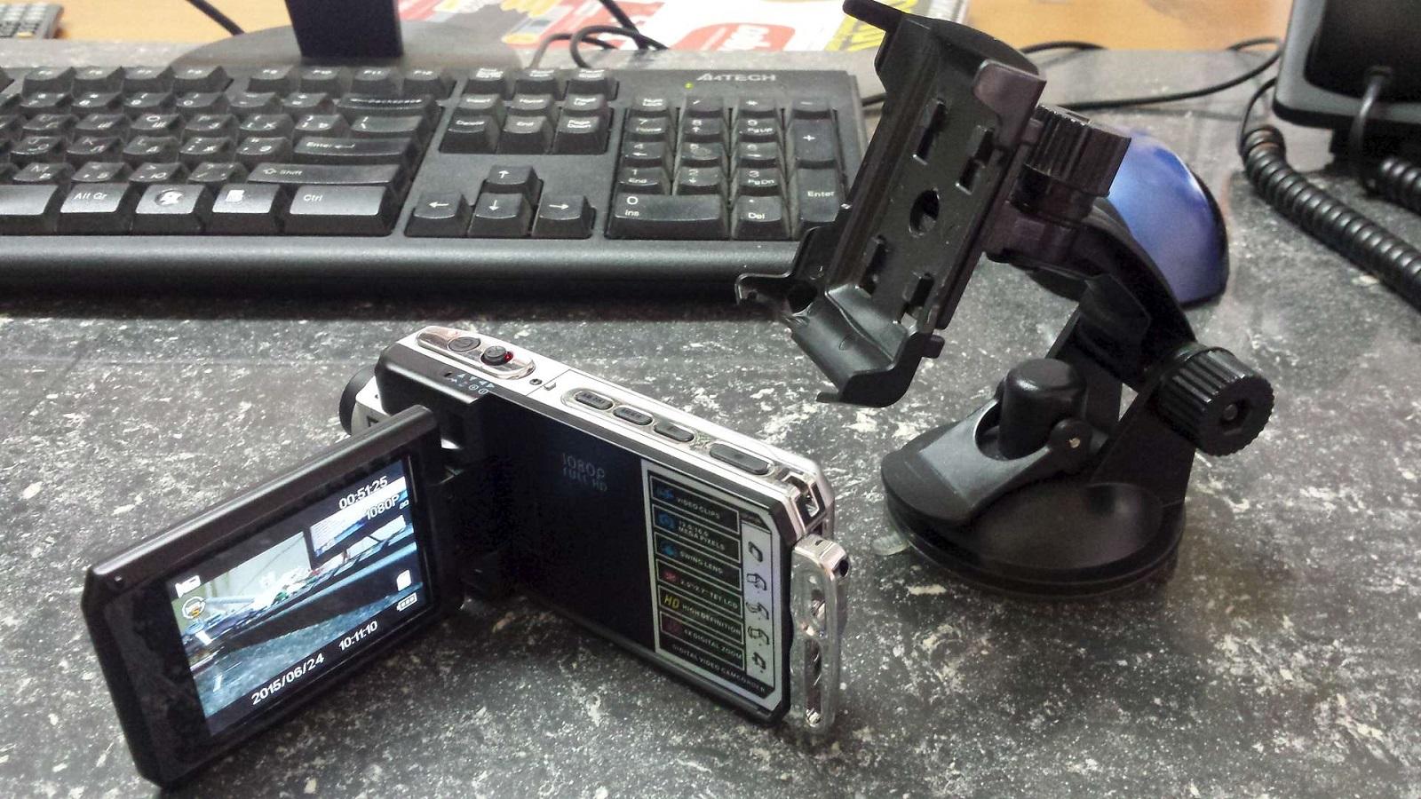 Видеорегистратор с тремя камерами DVR Full HD 1080P