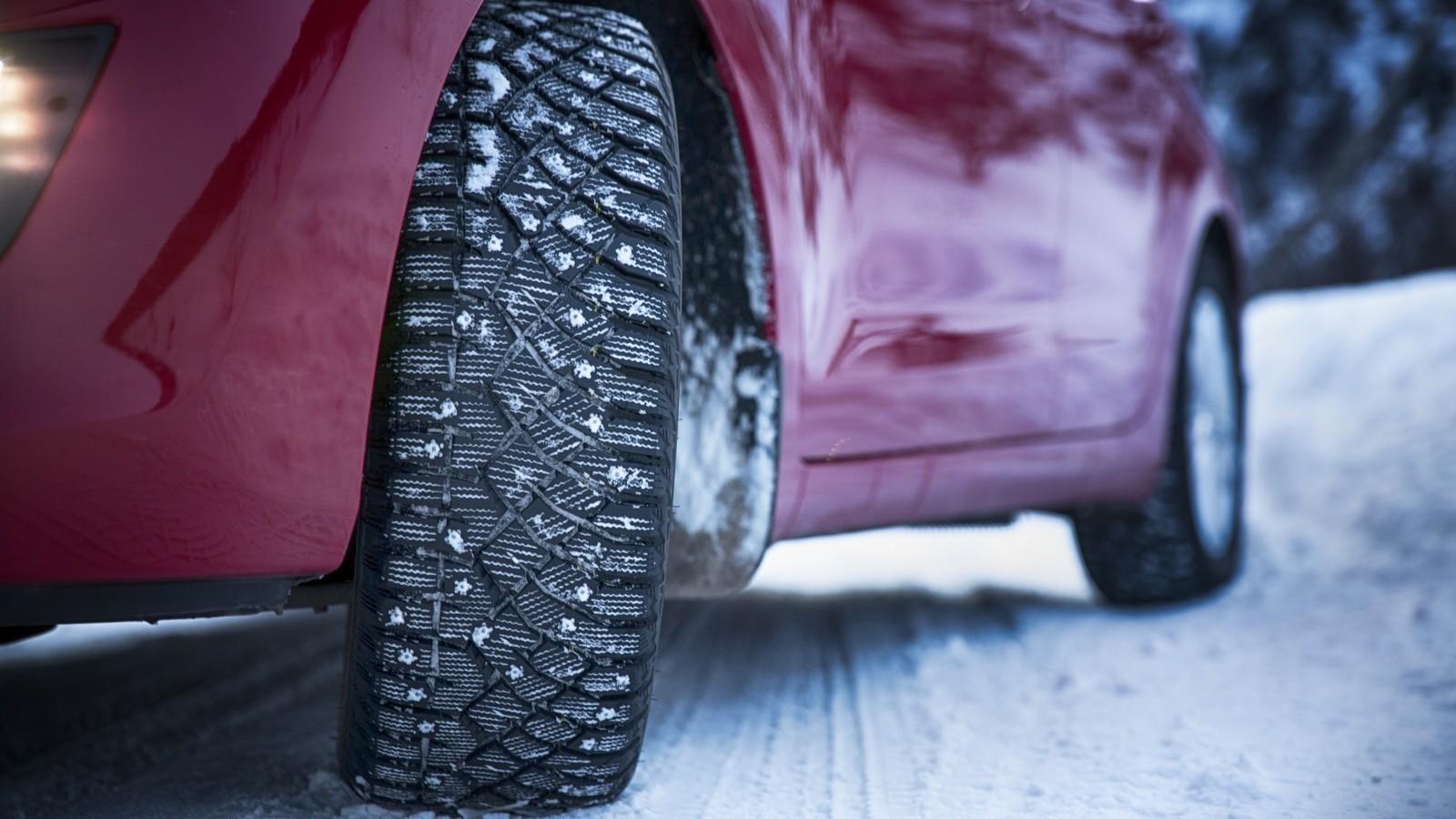 Зимняя резина на автомобиле